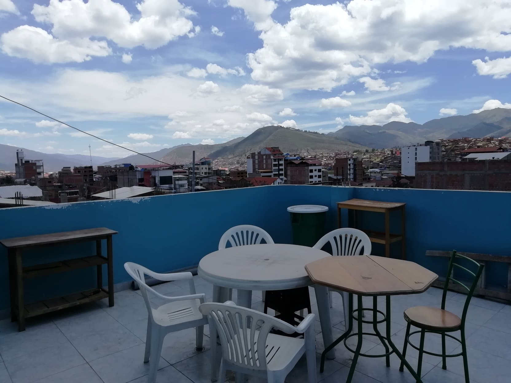 Cusco Volunteer house roof terrace